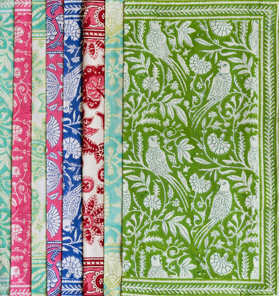 PARROT NAPKIN IN GREEN  (SET OF 4)