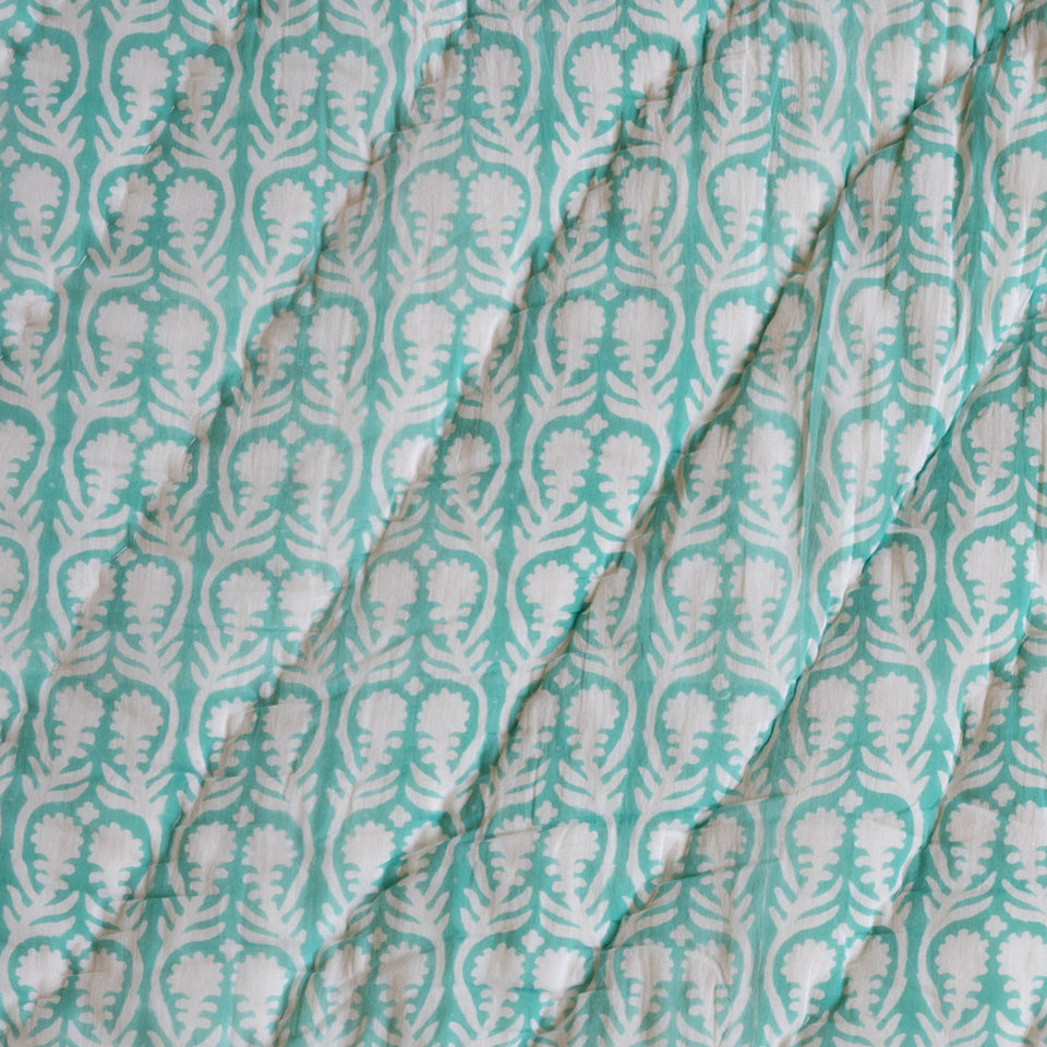 SALLY QUILT IN AQUA