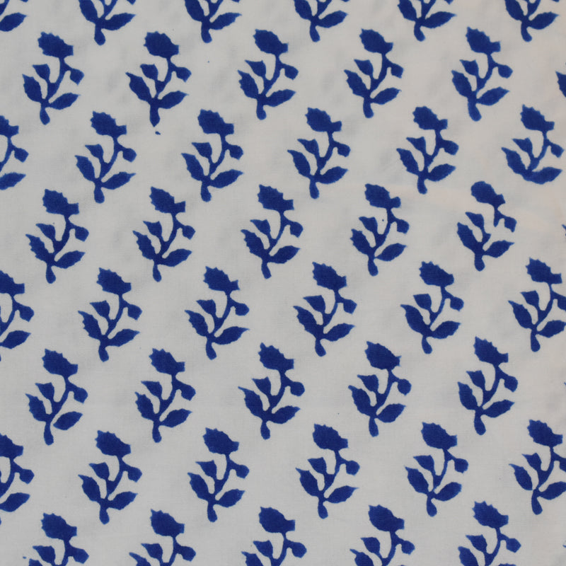 SMALL TREE FABRIC IN BLUE