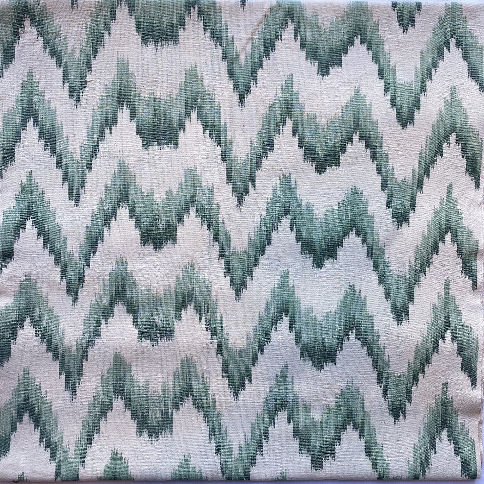 BUJOSA FABRIC - FLAMESTITCH GREEN