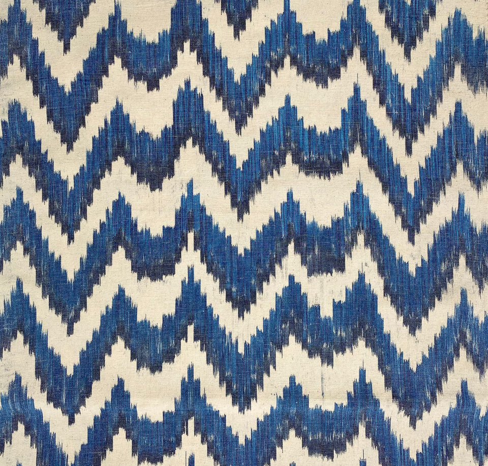 BUJOSA FABRIC - FLAMESTITCH BLUE