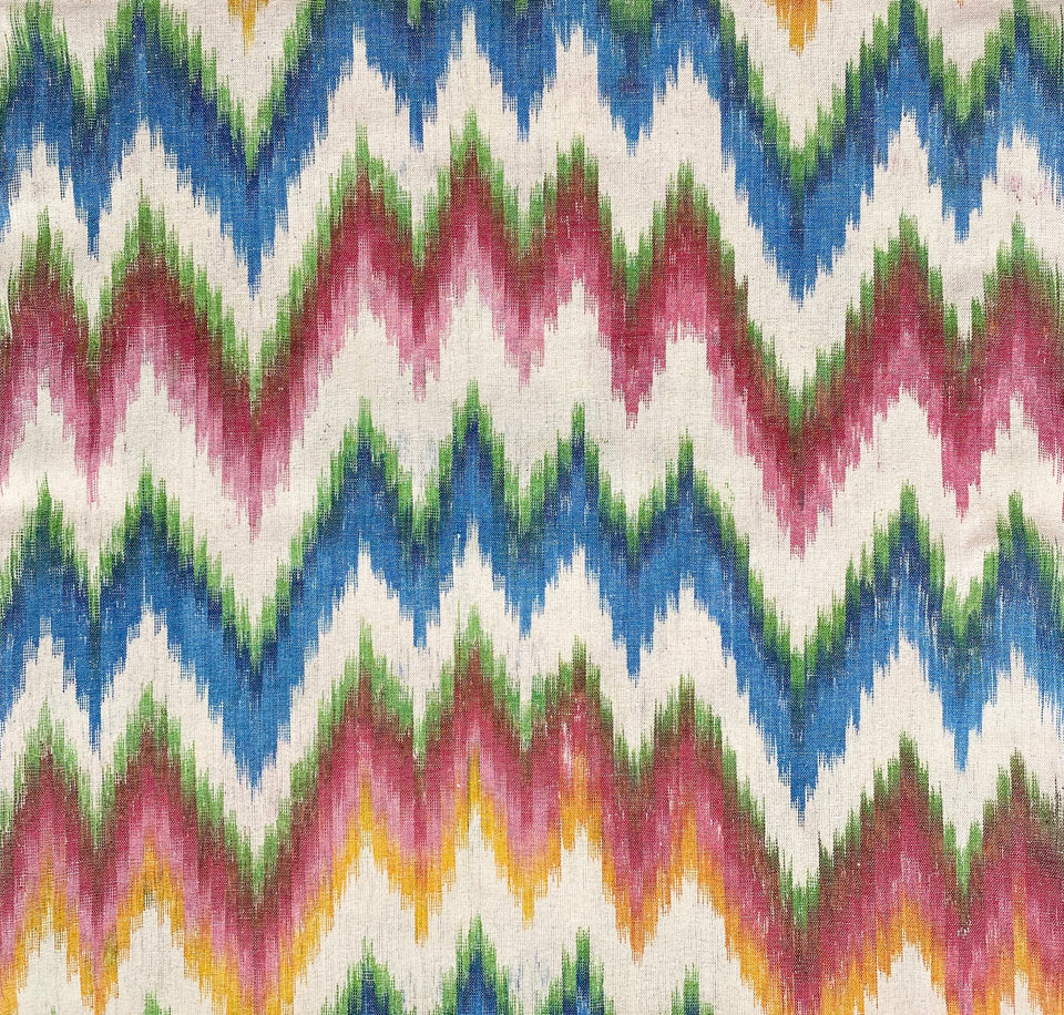 BUJOSA FABRIC - FLAMESTITCH MULTICOLOUR