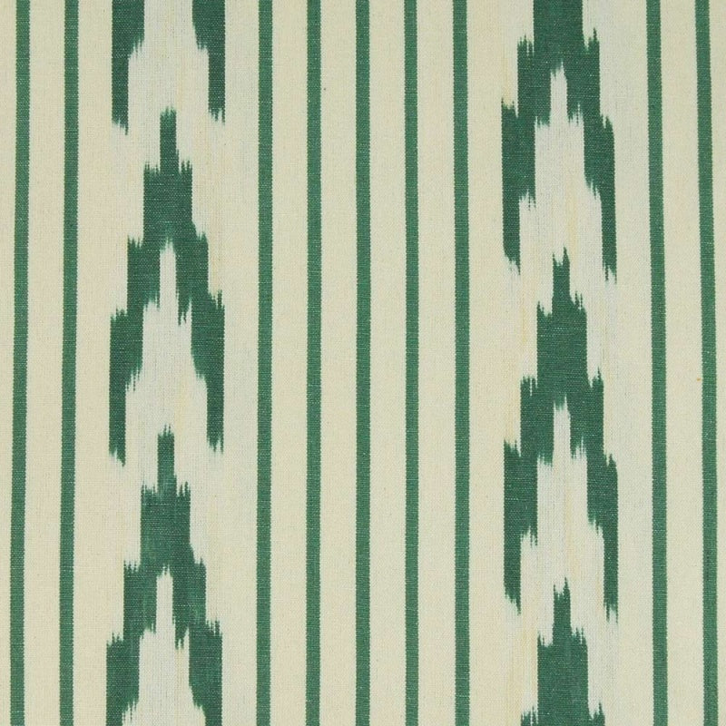 TEIXITS RIERA - RAILINGS GREEN STRIPE WITH CHEVRON