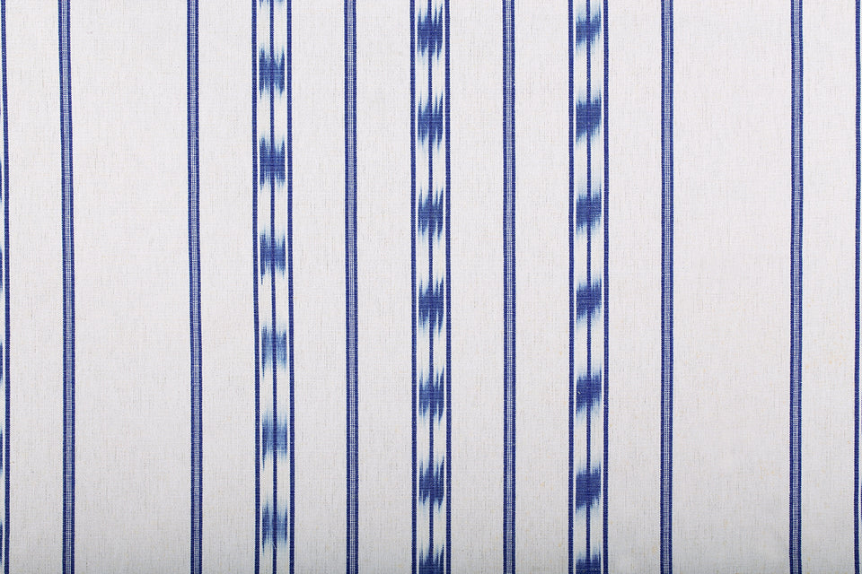 VICENS FABRIC - BLUE RAILS WITH INDIGO BADGE