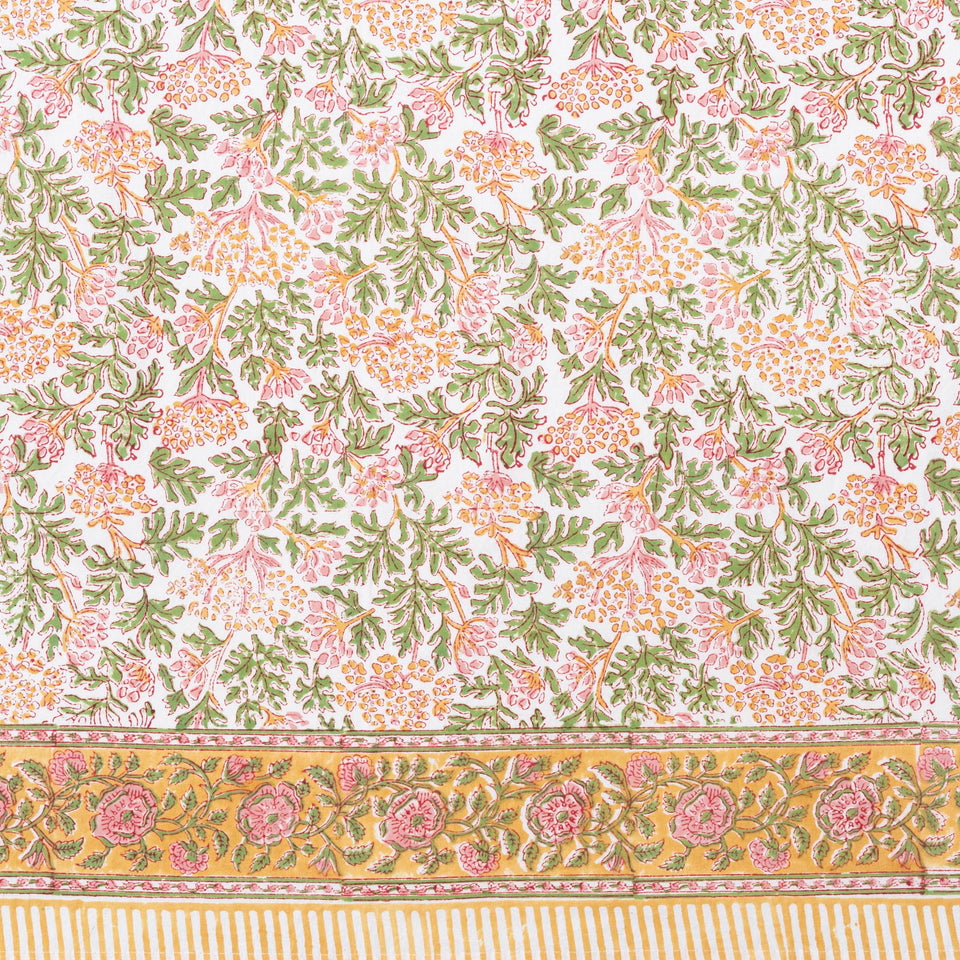 KELPIE TABLECLOTH IN PINK-GREEN
