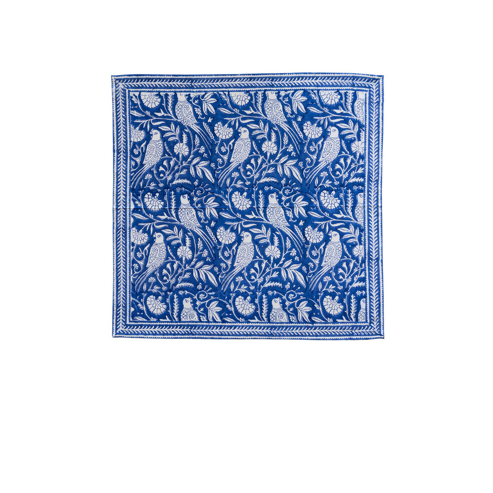 PARROT NAPKIN IN BLUE  (SET OF 4)