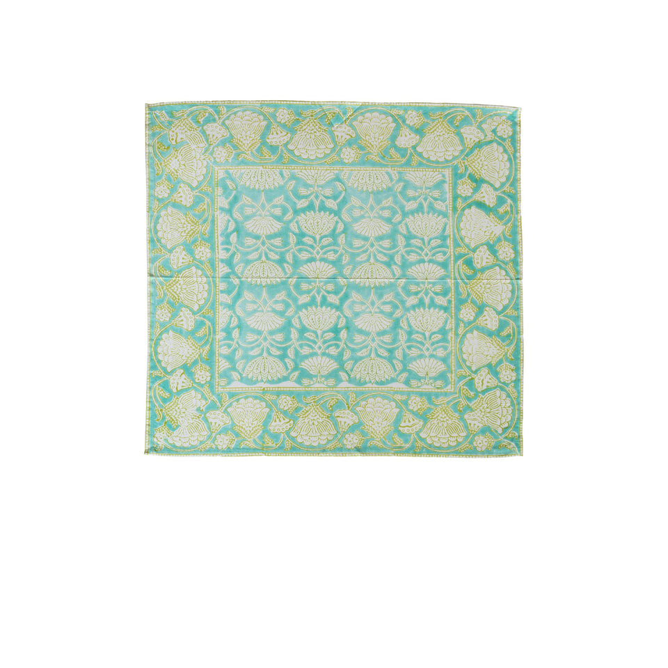 LOTUS JAL NAPKIN IN AQUA (SET OF 4)