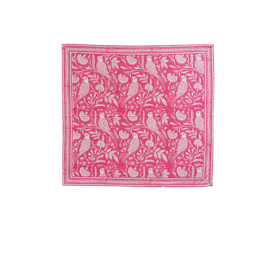 PARROT NAPKIN IN PINK  (SET OF 4)
