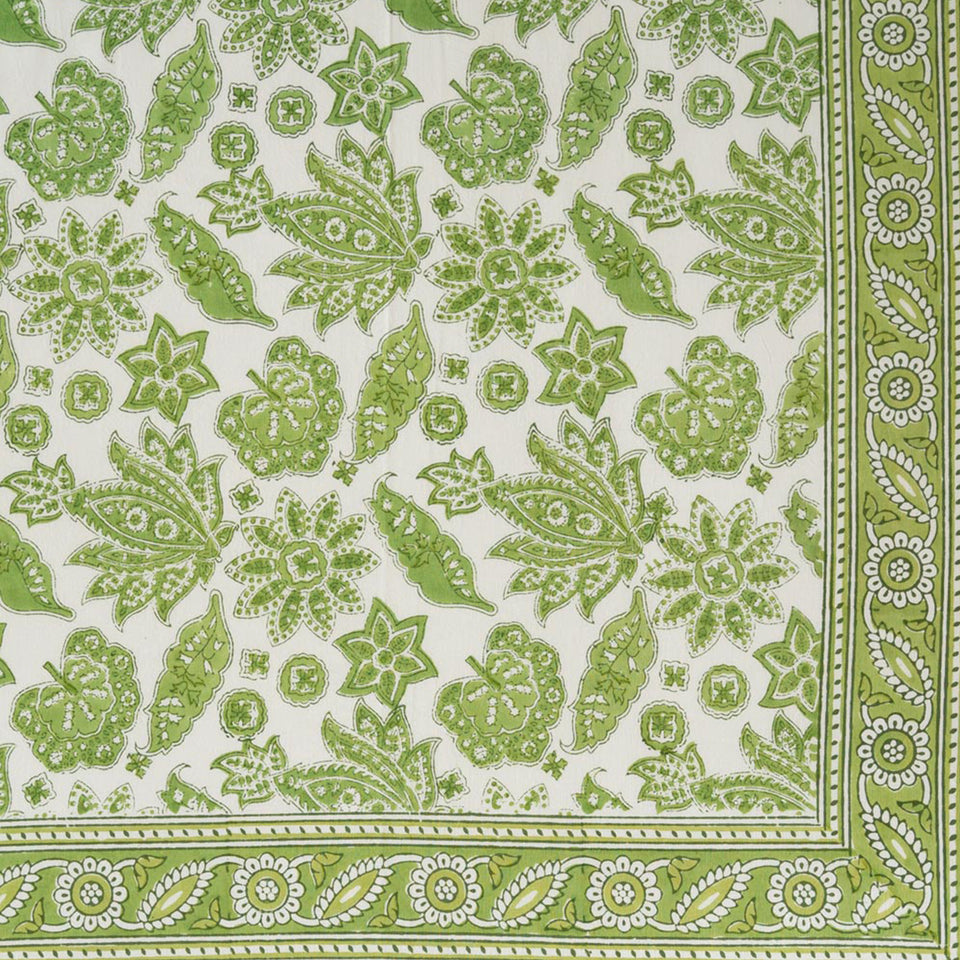ROBERTA JAL TABLECLOTH IN GREEN