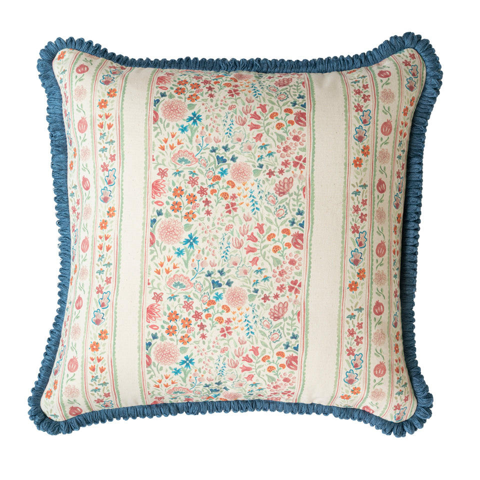 PARDIS FABRIC CUSHION IN MOGHUL MEADOW WASHED