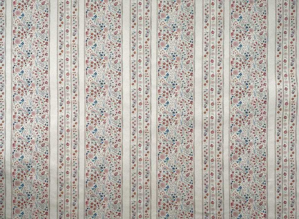 Moghul Meadow fabric, inspired by Moghul garden flowers