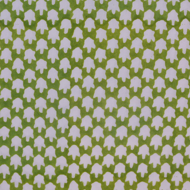 CHICKEN FEET FABRIC IN GREEN