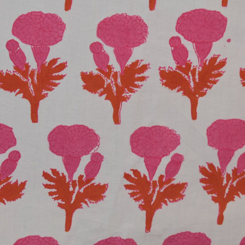 MARIGOLD FABRIC IN PINK/ORANGE