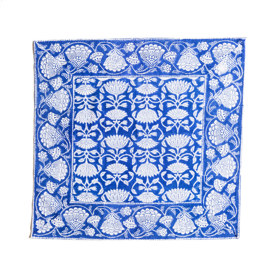 LOTUS JAL NAPKIN IN BLUE  (SET OF 4)