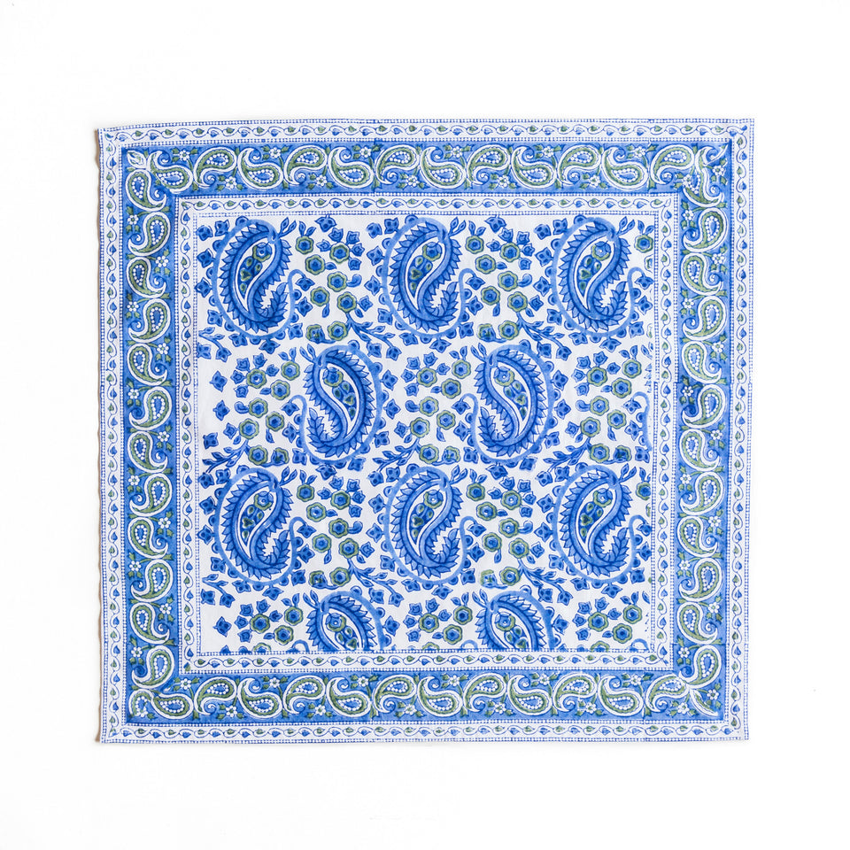 NEW PAISLEY NAPKIN IN BLUE (SET OF 4)
