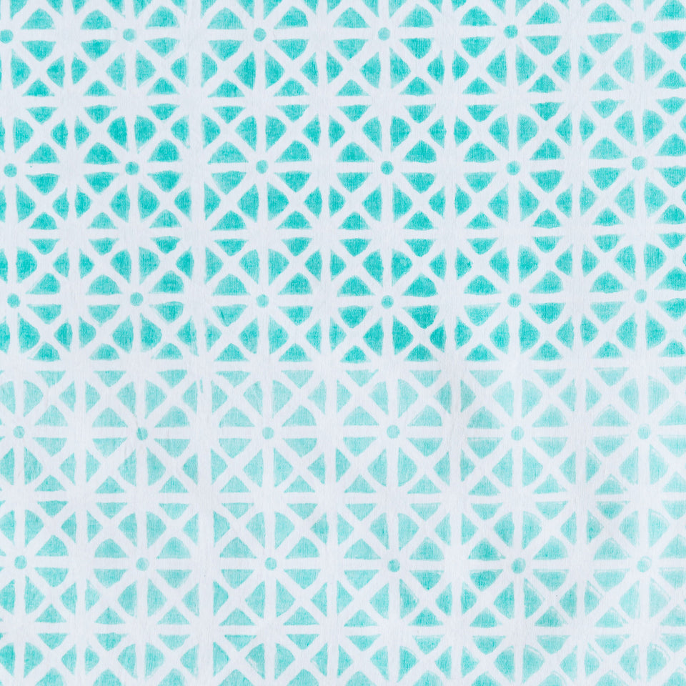 SUNFLOWER FABRIC IN AQUA