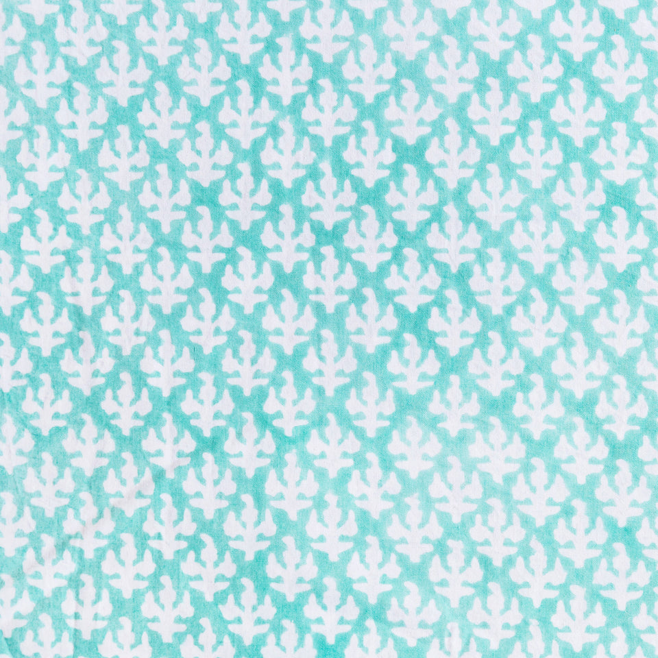 FERN FABRIC IN AQUA