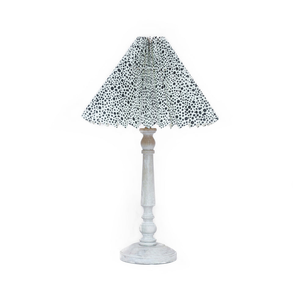 HANDMADE PAPER LAMPSHADE IN ANIMAL SPOT PRINT PATTERN
