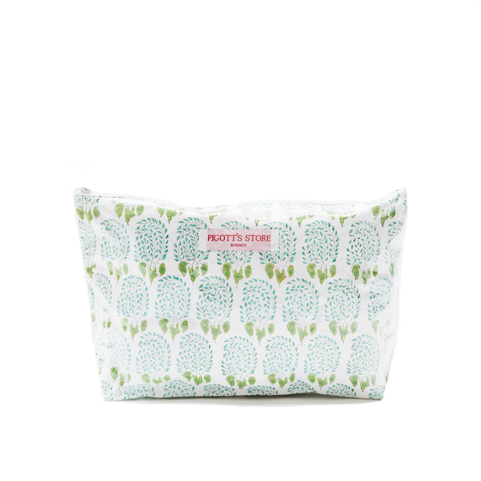 WASHBAG IN BUMBLE FABRIC GREEN