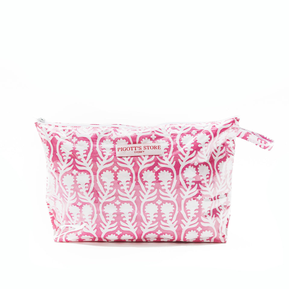 WASHBAG IN SALLY FABRIC PINK