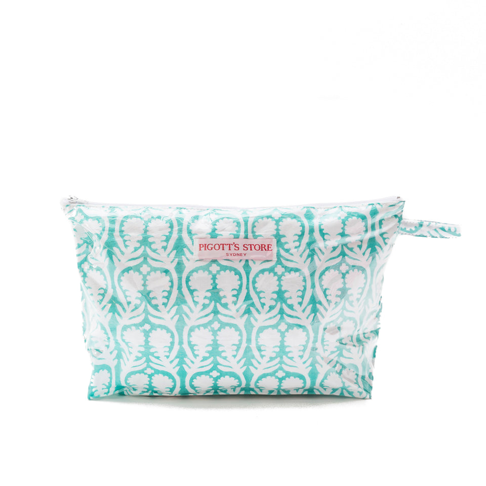 WASHBAG IN SALLY FABRIC AQUA