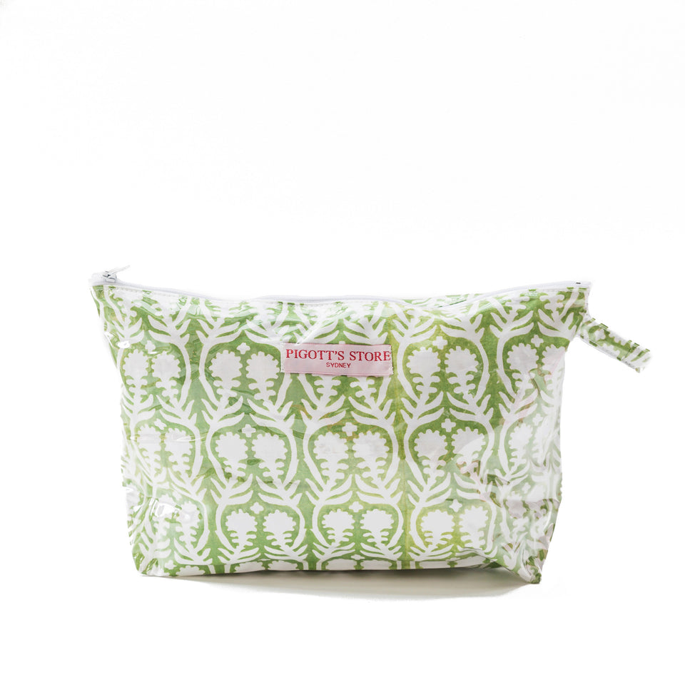 WASHBAG IN SALLY FABRIC GREEN