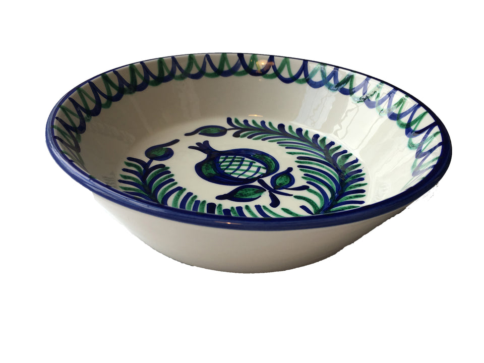 LARGE BOWL (LEBRILLO) -  POMEGRANATE AND FERN DESIGN