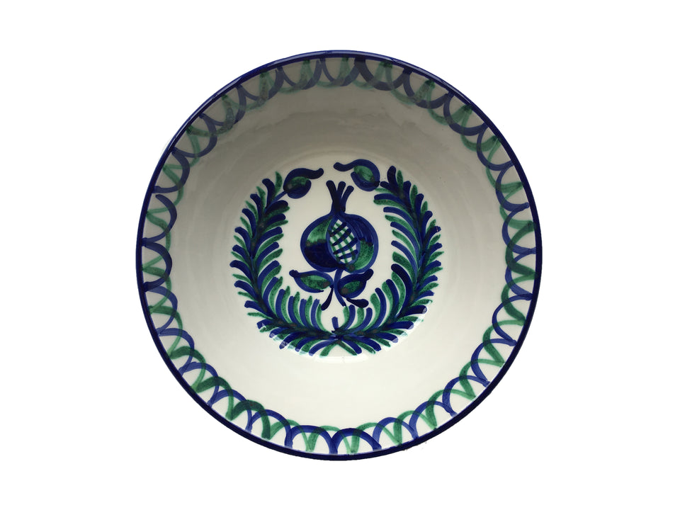MEDIUM BOWL - POMEGRANATE AND FERN DESIGN