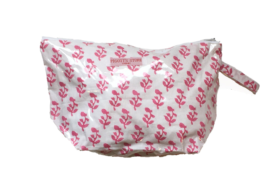 WASHBAG IN SMALL TREE FABRIC PINK