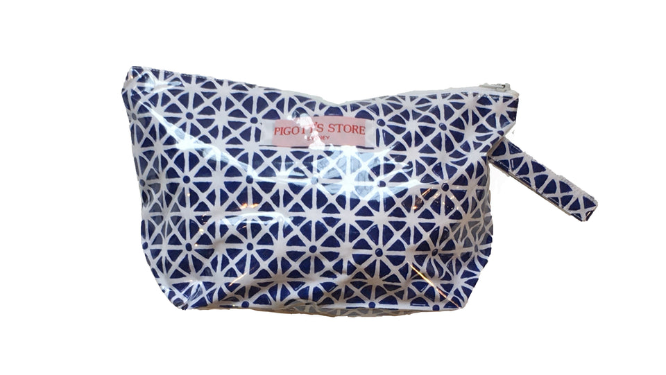 WASHBAG IN SUNFLOWER FABRIC BLUE