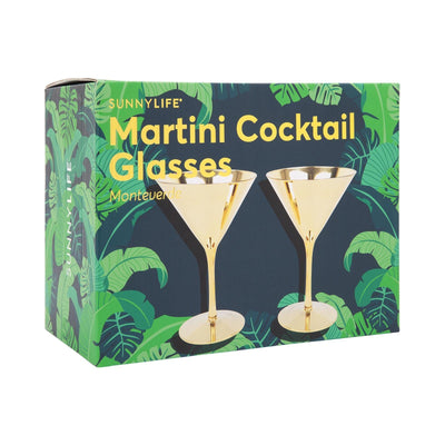 Pair of Martini Cocktail Glasses