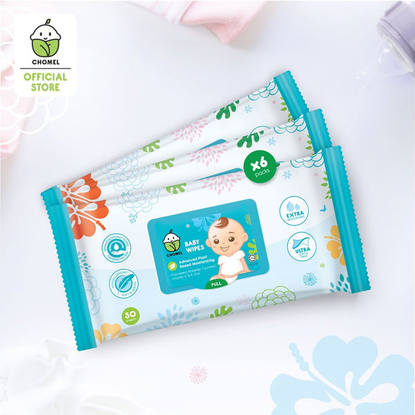 CHOMEL Baby Wipes (30 sheets X 3)