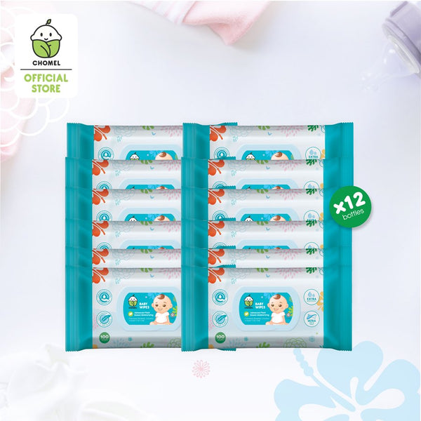 CHOMEL Baby Wipes (100 sheets x 12)