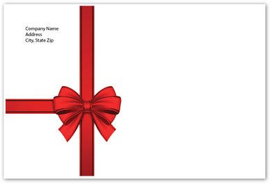 Envelope - Red Bow - Standard Return Address