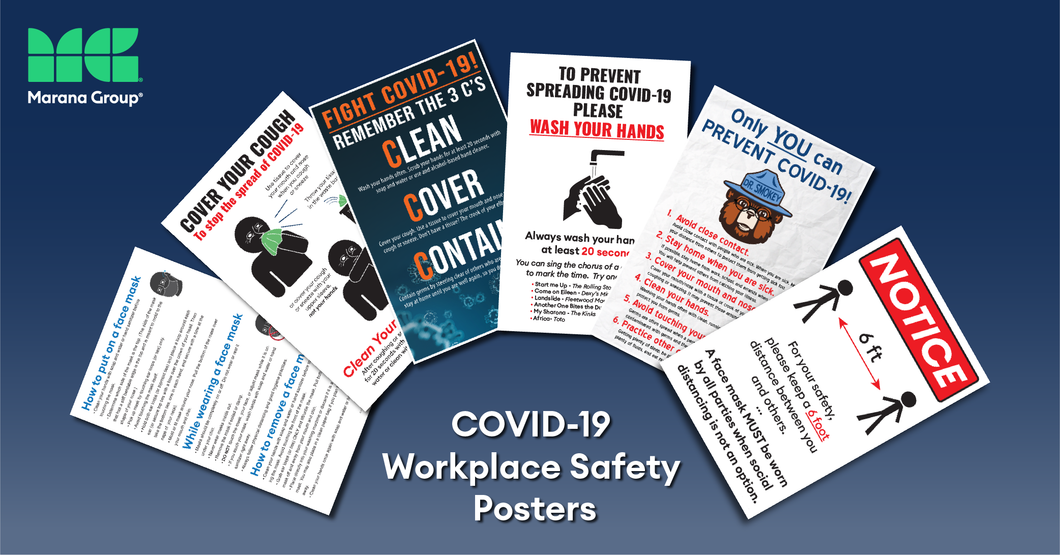 COVID-19 Poster:   Bundle Package B - 50 Posters