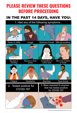 (Facility) COVID-19 Poster:  Visual Symptoms Poster