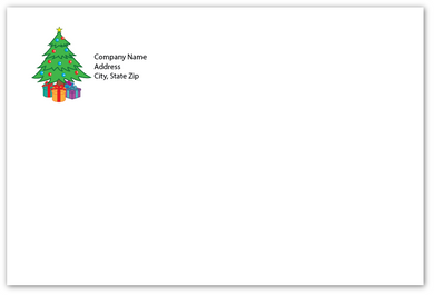 Envelope - Christmas Tree - Standard Return Address