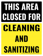 Load image into Gallery viewer, (Cleaning) COVID-19 Poster:  Closed for Cleaning and Sanitizing - Individual Poster