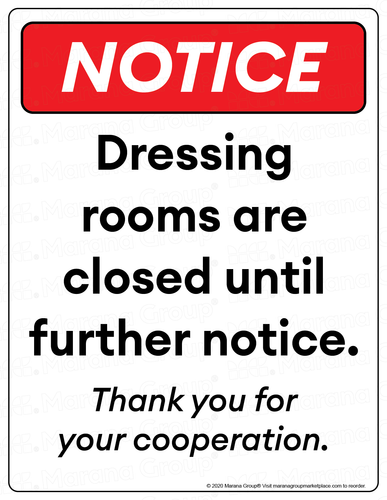 COVID-19 Poster:  Dressing Room - Individual Poster