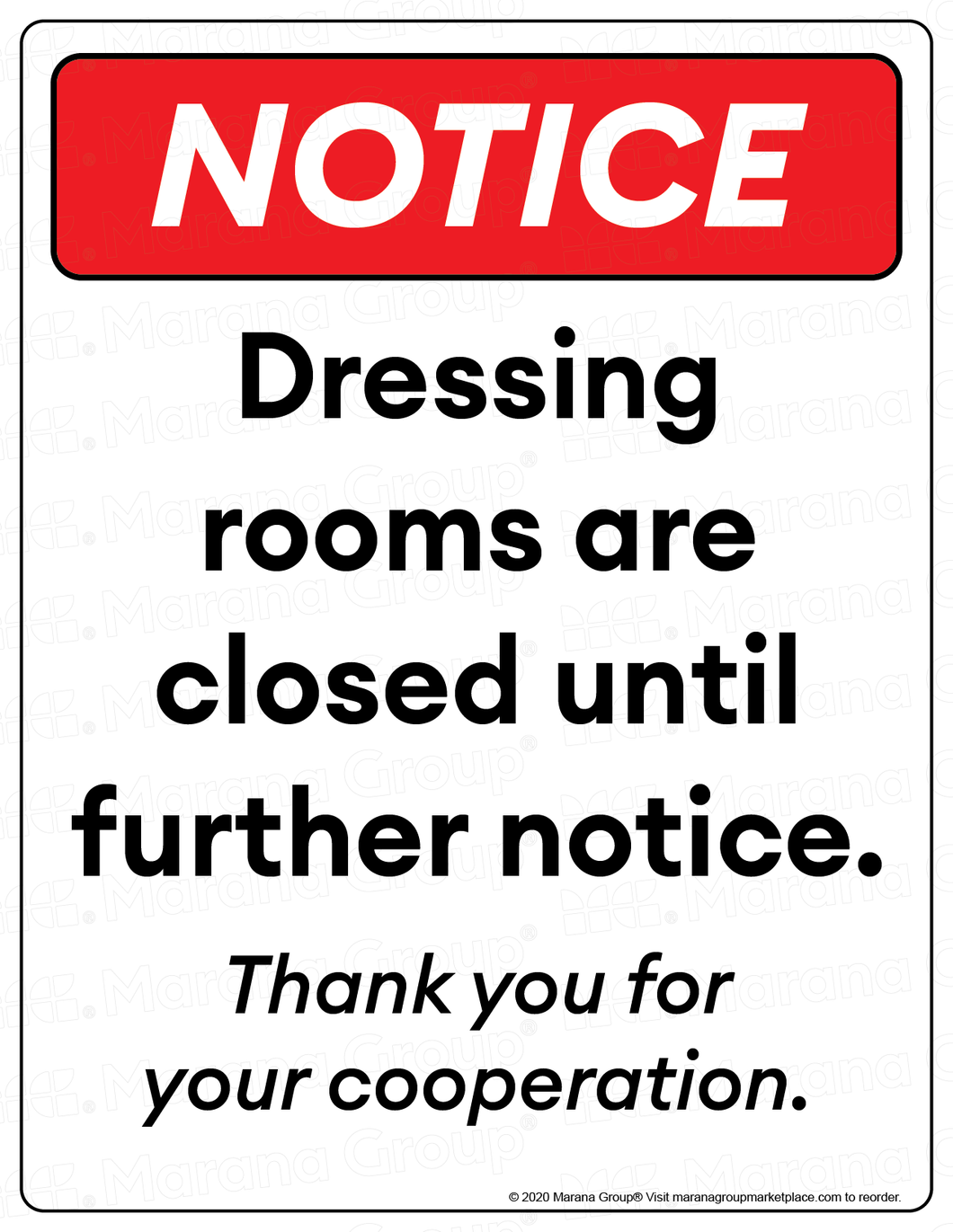 (Retail) COVID-19 Poster:  Dressing Room - Individual Poster