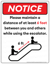 Load image into Gallery viewer, (Facility) COVID-19 Poster:  Escalator - Individual Poster