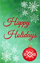 Load image into Gallery viewer, Holiday Card - Happy Holidays - Green (30 Count Cards and Blank Envelopes)