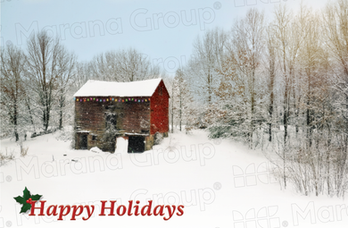 Holiday Card - Barn (30 Count Cards and Blank Envelopes)