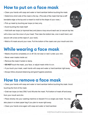 (Training) COVID-19 Poster:  How to Put on a Face Mask - Individual Poster