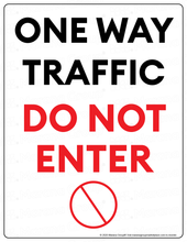 Load image into Gallery viewer, (Facility) COVID-19 Poster:  One-Way Traffic - DO NOT ENTER - Individual Poster