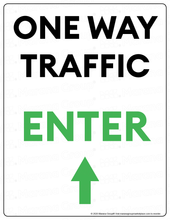 Load image into Gallery viewer, (Facility) COVID-19 Poster:  One-Way Traffic - UP Arrow - Individual Poster