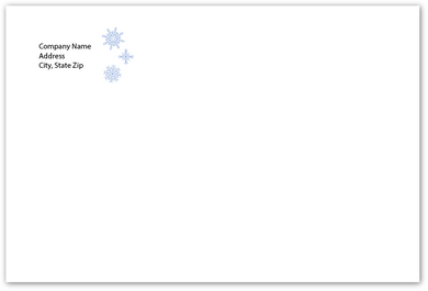 Envelope - Snowflake - Standard Return Address