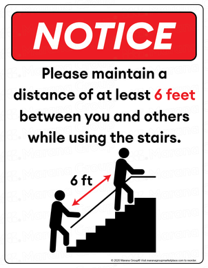 (Facility) COVID-19 Poster:  Stairwell - Individual Poster