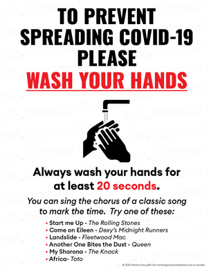 (Training) COVID-19 Poster:  Wash Your Hands - Individual Poster