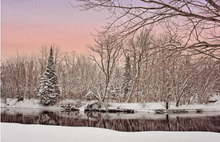 Load image into Gallery viewer, Holiday Card - Winter Sunset (30 Count Cards and Blank Envelopes)